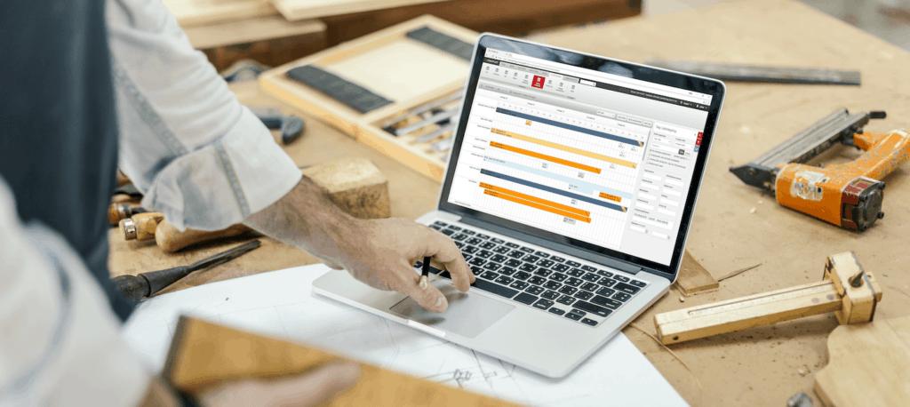 E-Komplets planlægningsværktøj på computer