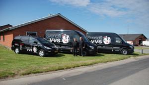 Svends VVS kontor og biler