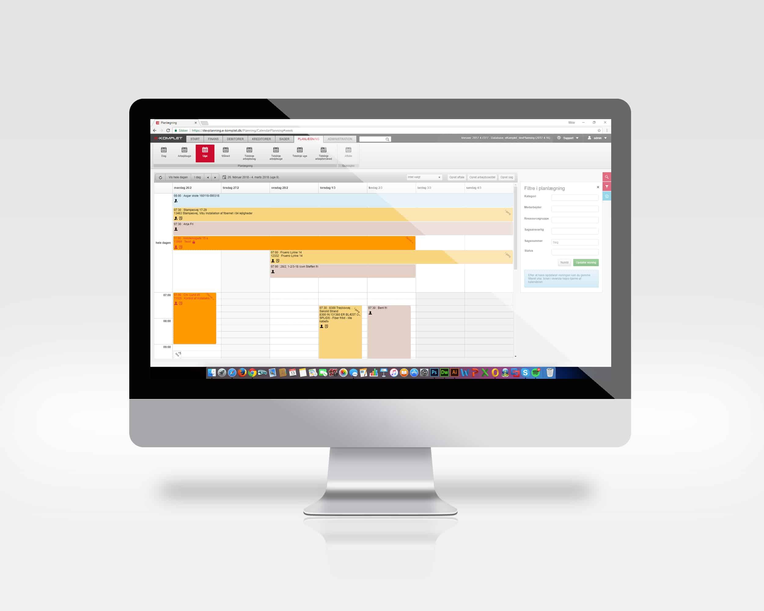 E-Komplets planlægningsmodul er fuldt integreret med resten af løsningen